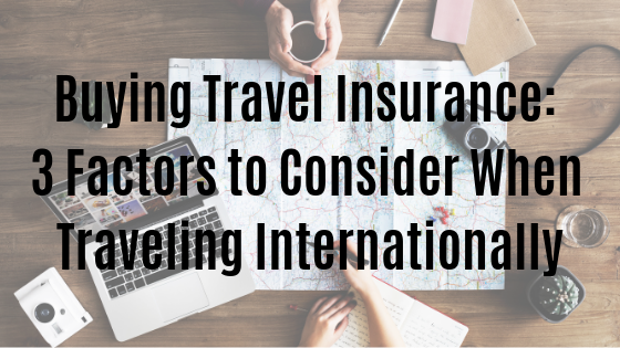 Buying travel insurance