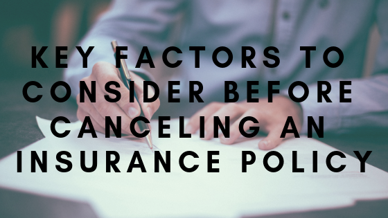 canceling insurance policy